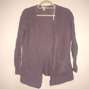 Forever 21 Purple Cardigan